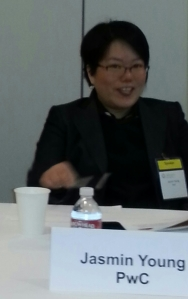 SVForum Panelist Jasmin Young of PwC discusses the fast growth of SMAC at a breakfast event in Palo Alto on Tuesday.