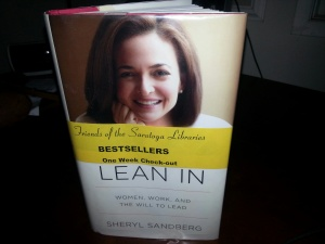 Lean-In by Sheryl Sandberg is on the bestsellers list at my local library this week.