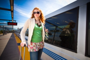 A commuter at the BART Fremont station (Photo from iStockPhoto.com)
